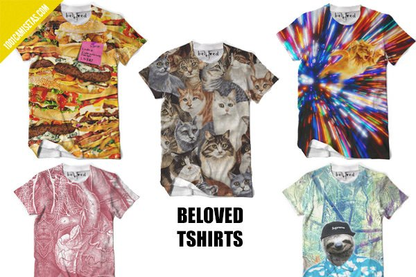Camisetas full print beloved tshirts
