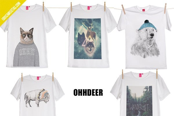 Camisetas hipsters ohhdeer