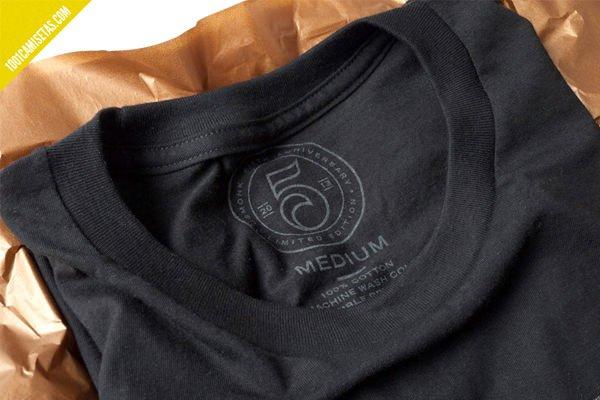 Etiquetas serigrafiadas camisetas
