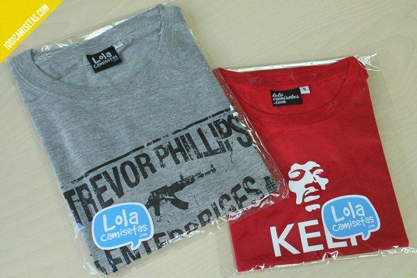 Camisetas empaquetadas
