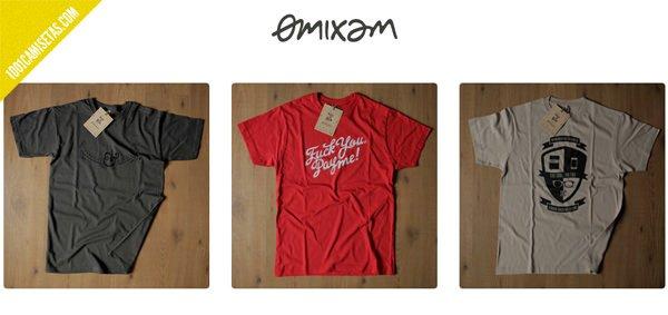 Camisetas tipograficas Omixam