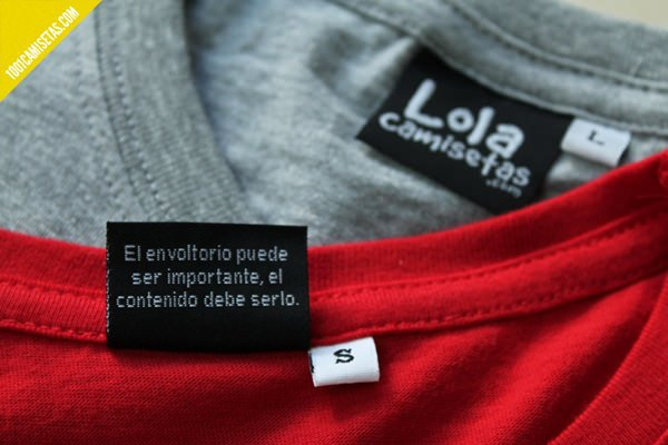 Etiquetas personalizadas camisetas