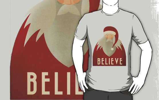 Camiseta believe santa