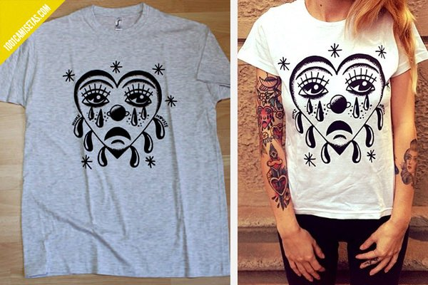 Camiseta corazon tattoo