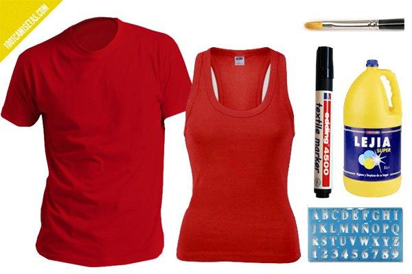 Camisetas rojas DIY