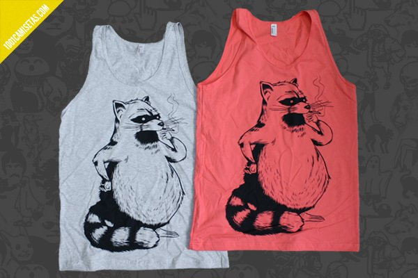 Camisetas sin mangas raccoon