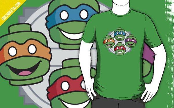 Camiseta tortugas ninja Lego