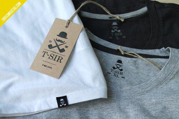 Etiquetado camisetas