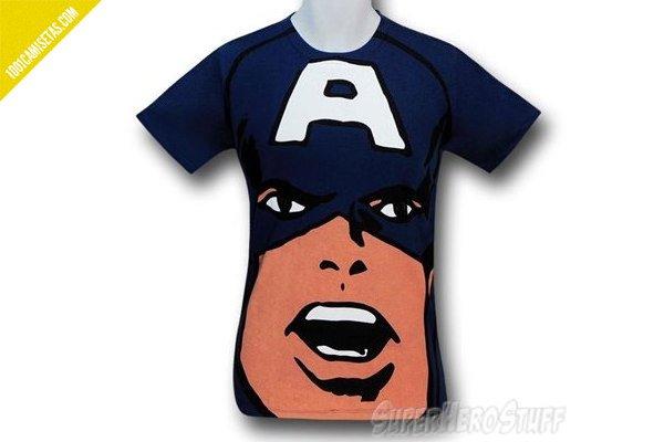 Camiseta full print capitan america