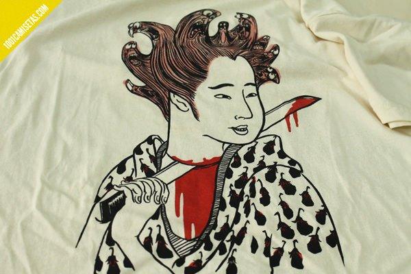 Camiseta samurai loco