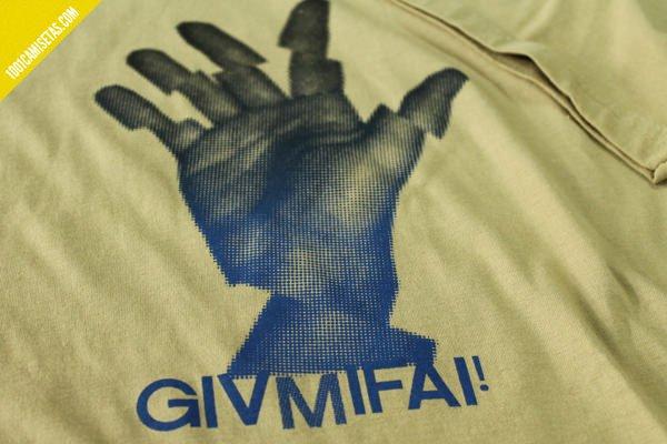 Camiseta serigrafia tramas