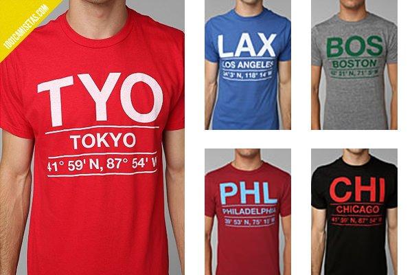 Camisetas aereopuertos urban outfitters