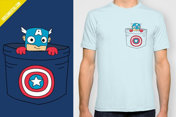 Pocket tee captain america