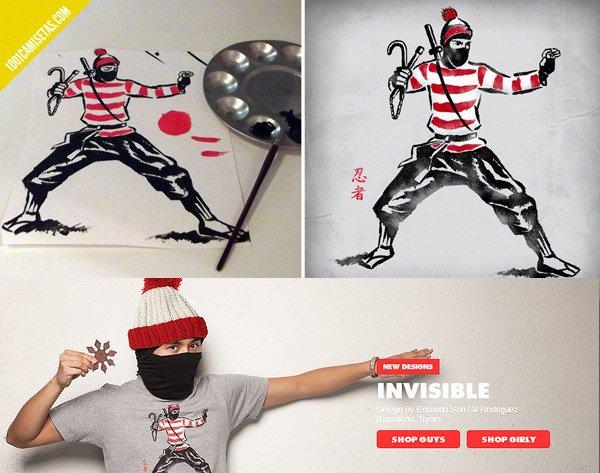Proceso diseño camisetas Wally