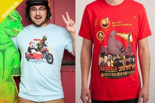 Camisetas divertidas godzilla