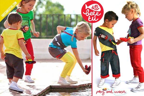 Camisetas interactivas infantiles