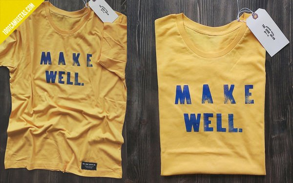 Camisetas letterpress