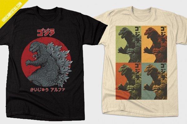 Godzilla camisetas