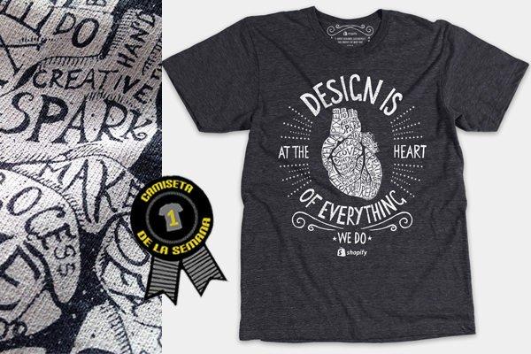 Camiseta de la semana desing is at the heart
