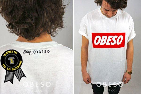 Camiseta de la semana obeso