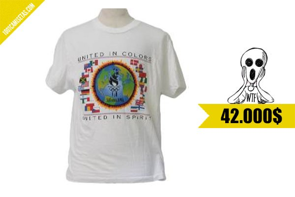 Camiseta unicef olimpiadas 1996