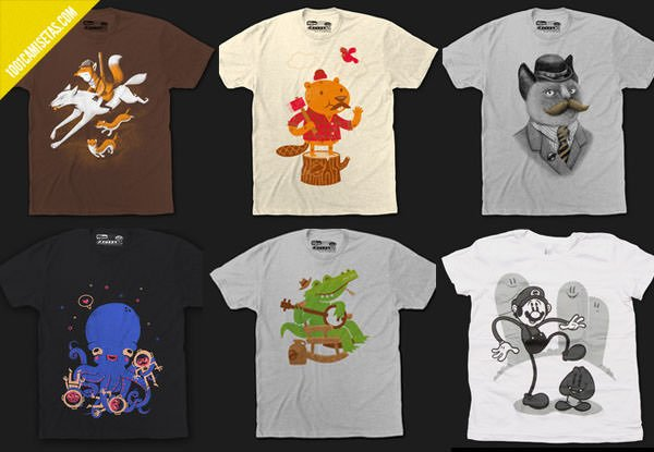 Camisetas fuzzy ink
