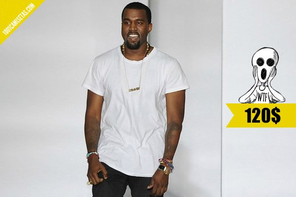 Kanye west plain white t-shirt