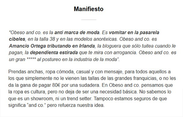 Manifiesto Obeso and co
