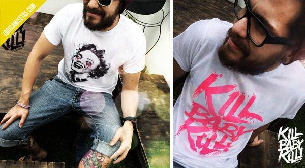 Camisetas tipograficas grunge