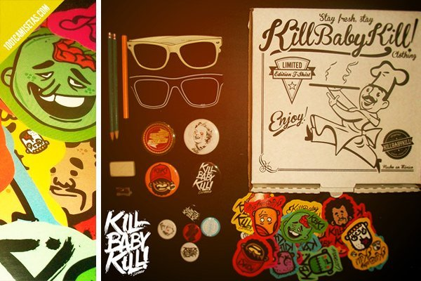 Packaging camisetas kill baby kill