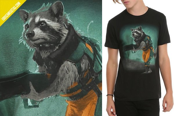 Camiseta Rocket Raccoon