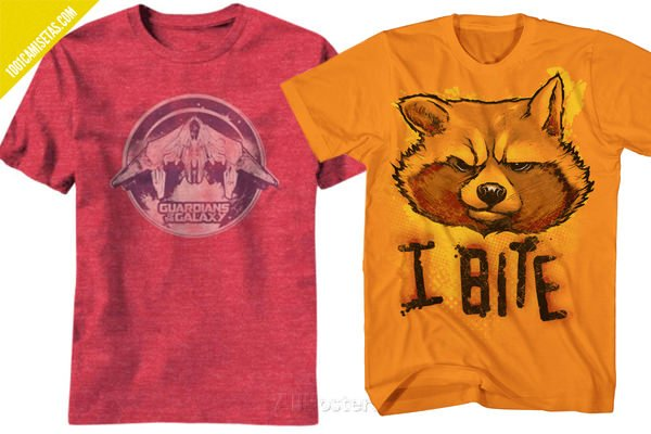 Camisetas guardianes mapache