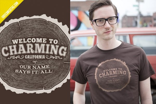 Camiseta welcome to charming