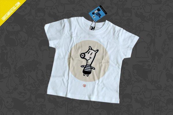 Camisetas infantil cerdo