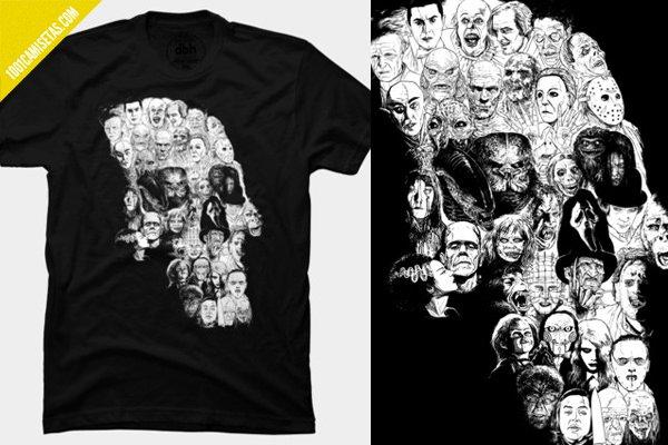 Camiseta horror skull
