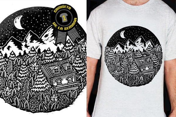 Camiseta mountain lane