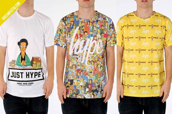 Camisetas simpsons hype