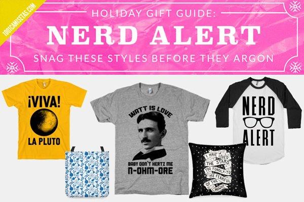 Camisetas tipograficas nerds