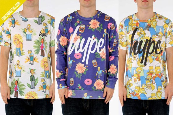 Hype the simpsons t-shirts