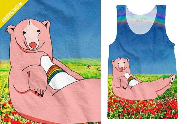 Camiseta divertida oso amoroso
