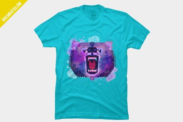 Camiseta oso pixel