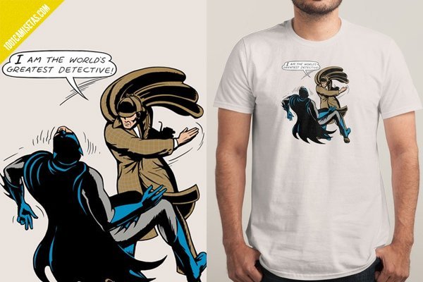 Camiseta Batman Sherlock