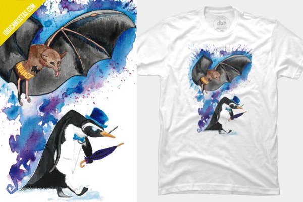 Camiseta batman pinguino