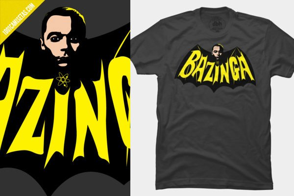 Camisetas bazinga batman