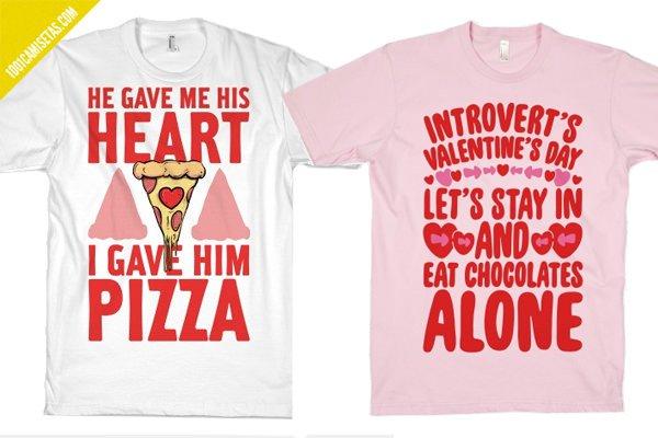 Camisetas divertidas san valentin