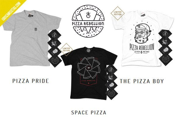 Camisetas pizza rebellion