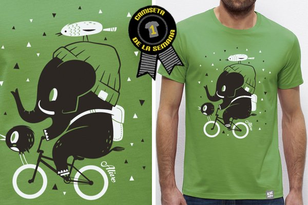 Camiseta de la semana biking friends