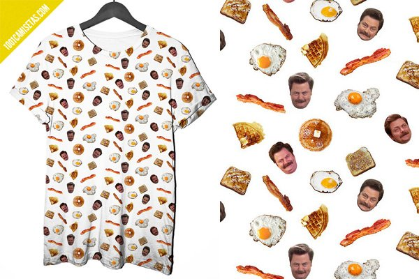 Camiseta parks and rec full print