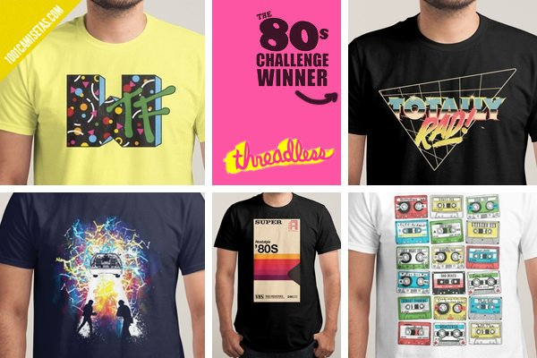 Camisetas 80s threadless