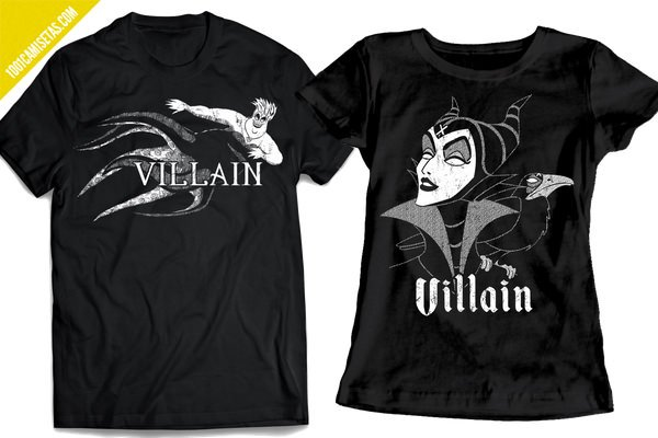Camisetas disney villanos